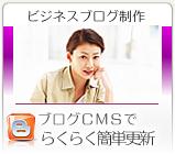 ビジネスブログ制作。ビジネスブログ、CMS作成らくらく簡単更新